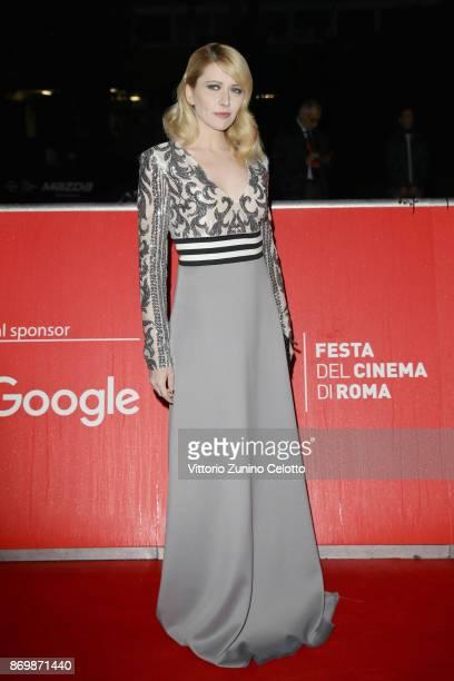 Loredana Cannata walks a red carpet for 'Borg McEnroe' during the 12th Rome Film Fest at Auditorium Parco Della Musica on November 3 2017 in Rome...