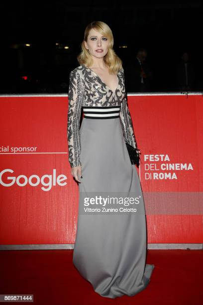 Loredana Cannata walks a red carpet for 'Borg McEnroe' during the 12th Rome Film Fest at Auditorium Parco Della Musica on November 3 2017 in Rome...