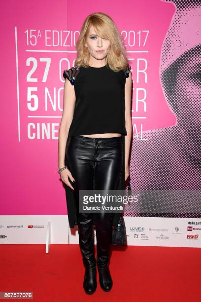 Loredana Cannata walks a red carpet for 'Metti Una Notte' during the 12th Rome Film Fest at on October 28 2017 in Rome Italy