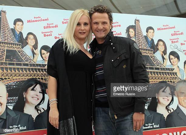 "Loredana De Nardis and Enzo Salvi attend the ""Matrimonio A Parigi"" photocall at Hotel Visconti on October 18, 2011 in Rome, Italy."