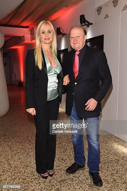 Loredana De Nardis and Massimo Boldi attend the Gala Dinner 'La Grande Bellezza' during the 9th Rome Film Festival on October 24, 2014 in Rome, Italy.