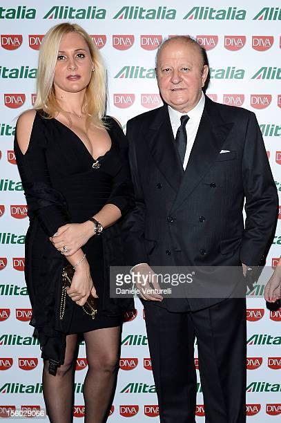 Loredana De Nardis and Massimo Boldi attend the Jet Set Party Alitalia at Residenza di Ripetta on November 10, 2012 in Rome, Italy.