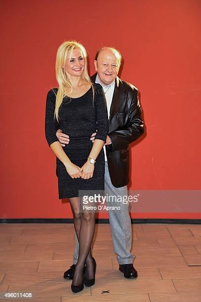 Loredana De Nardis and Massimo Boldi pose during the 'Matrimonio Al Sud' Photocall on November 6, 2015 in Milan, Italy.