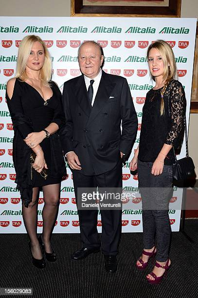 Loredana De Nardis, Massimo Boldi and Araba dell'Utri attend the Jet Set Party Alitalia at Residenza di Ripetta on November 10, 2012 in Rome, Italy.