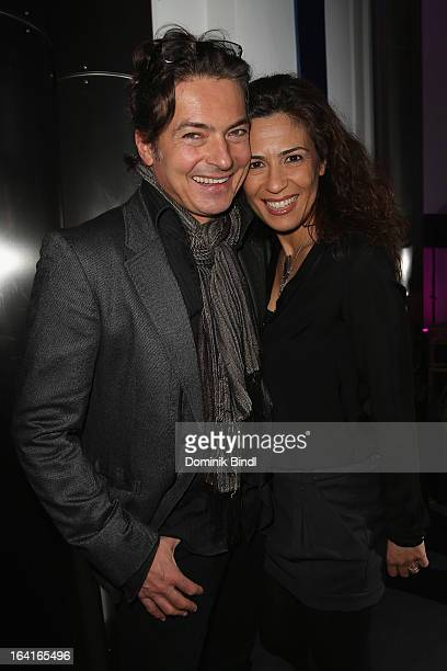 Loredana La Rocca and Pascal Breuer attend the Ndf Afterwork Party at 8 Seasons on March 20 2013 in Munich Germany