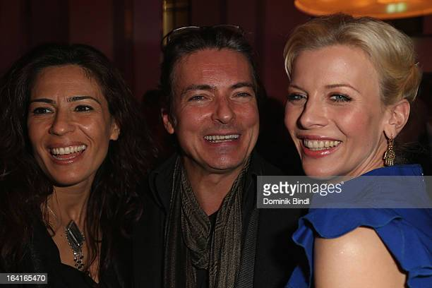 Loredana La Rocca Pascal Breuer and Eva Habermann attend the Ndf Afterwork Party at 8 Seasons on March 20 2013 in Munich Germany