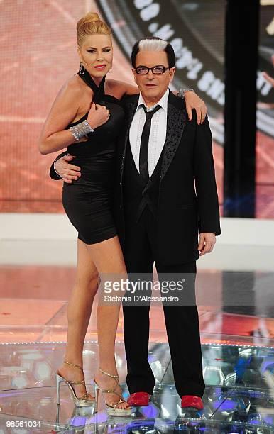 Loredana Lecciso and Cristiano Malgioglio attend 'L'Isola Dei Famosi' Italian Tv Show held at Rai Studios on April 19 2010 in Milan Italy