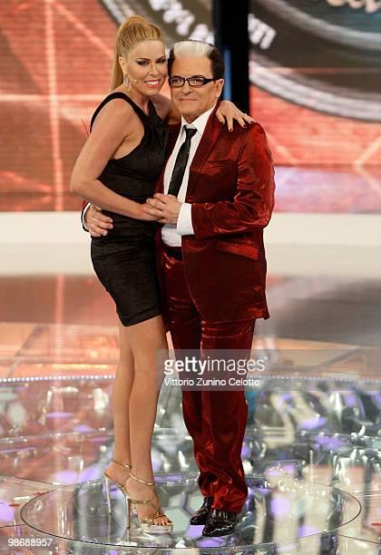 Loredana Lecciso and Cristiano Malgioglio attend 'L'Isola Dei Famosi' Italian Tv Show held at Rai Studios on April 26 2010 in Milan Italy