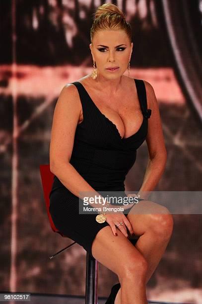 Loredana Lecciso appears on Quelli che il calcio tv show on March 28 2010 in Milan Italy