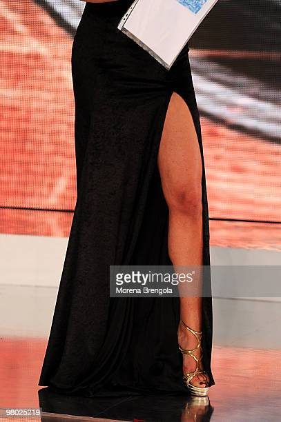 Loredana Lecciso appears on the ''L'Isola dei famosi'' television show on March 24 2010 in Milan Italy