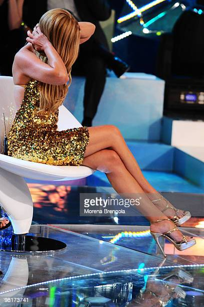 Loredana Lecciso appears on the ''L'Isola dei famosi'' television show on March 31 2010 in Milan Italy