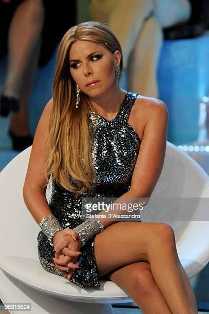 Loredana Lecciso attends 'L'Isola Dei Famosi' Italian Tv Show held at Rai Studios on April 7 2010 in Milan Italy