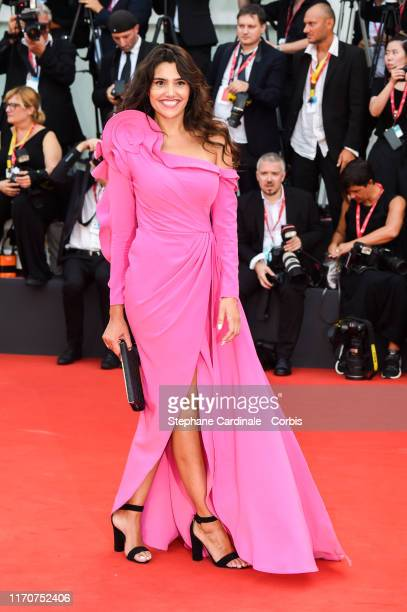 Loredana Salanta walks the red carpet ahead of the opening ceremony during the 76th Venice Film Festival at Sala Casino on August 28, 2019 in Venice,...