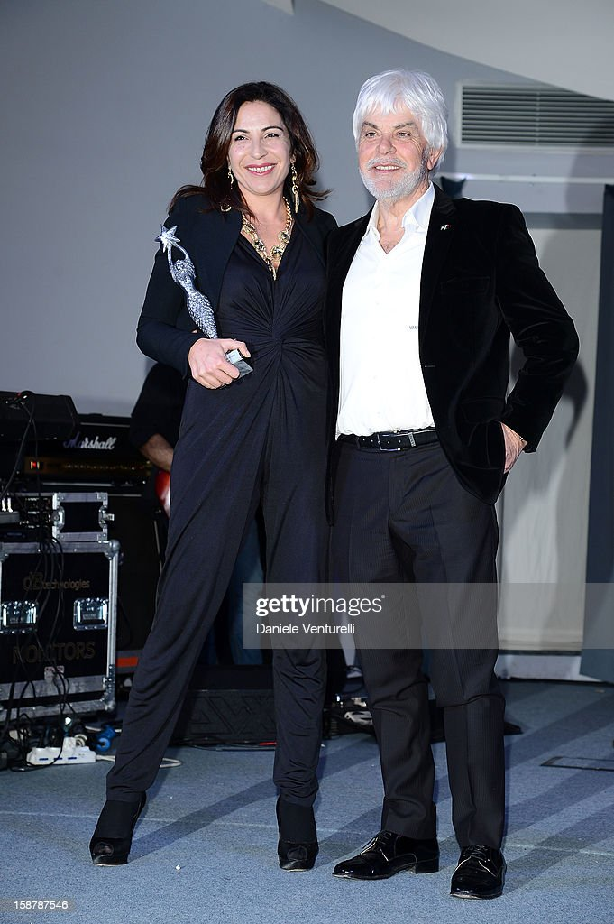 Loredana Simioli and Valerio Massimo Manfredi attend Day 3 of the 2012 Capri Hollywood Film Festival on December 28, 2012 in Capri, Italy.
