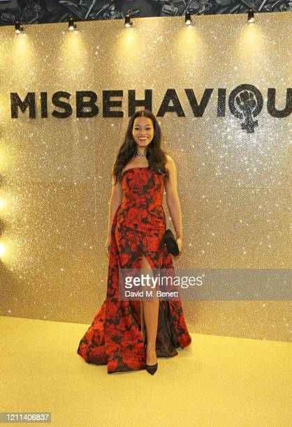 Loreece Harrison attends the World Premiere of Misbehaviour at The Ham Yard Hotel on March 09 2020 in London England