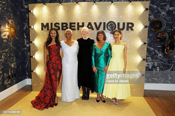 Loreece Harrison Pearl Jansen Philippa Lowthorpe Jennifer Hosten and Gugu MbathaRaw attend the World Premiere of Misbehaviour at The Ham Yard Hotel...