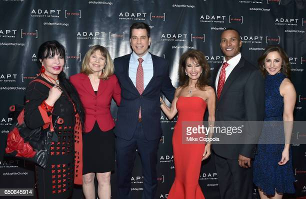 Loreen Arbus Donna Hanover Steve Lacy Susan Lucci Mike Woods and Teresa Priolo attend UCP of NYC 70th Anniversary Gala on March 9 2017 in New York...