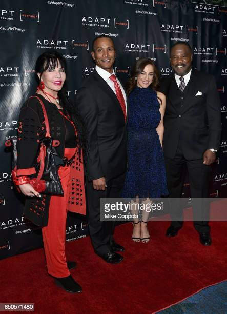 Loreen Arbus Mike Woods Teresa Priolo and Isiah Whitlock Jr attend UCP of NYC 70th Anniversary Gala on March 9 2017 in New York City