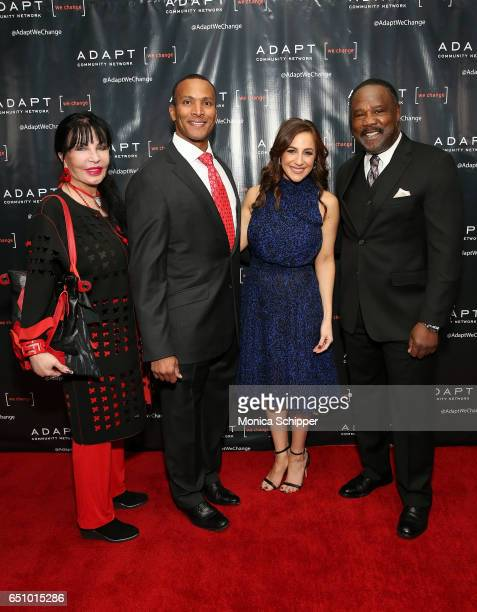 Loreen Arbus Mike Woods Teresa Priolo and Isiah Whitlock Jr attend the UCP of NYC 70th Anniversary Celebration Gala at New York Hilton Midtown on...