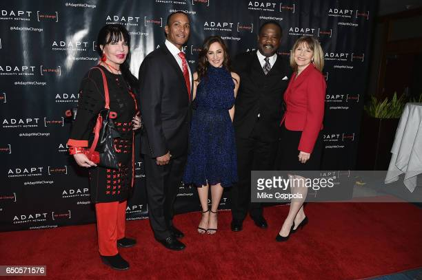 Loreen Arbus Mike Woods Teresa Priolo Isiah Whitlock Jr and Donna Hanover attend UCP of NYC 70th Anniversary Gala on March 9 2017 in New York City