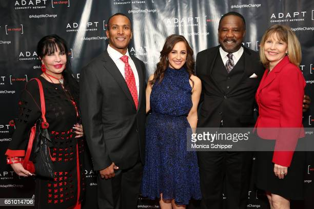 Loreen Arbus Mike Woods Teresa Priolo Isiah Whitlock Jr and Donna Hanover attend the UCP of NYC 70th Anniversary Celebration Gala at New York Hilton...