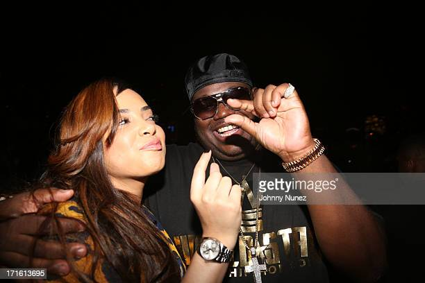 Lore'l and Lee 'Q' O'Denat attend Charlamagne Tha God's birthday celebration at Stage 48 on June 26 2013 in New York City