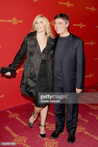 Lorella Cuccarini and Silvio Testi attend the Roberto Cavalli at HM collection launch party on October 25 2007 in Rome Italy