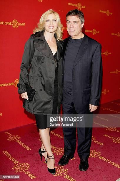 Lorella Cuccarini and Silvio Testi attend the Roberto Cavalli at H&M collection launch party on October 25, 2007 in Rome, Italy.