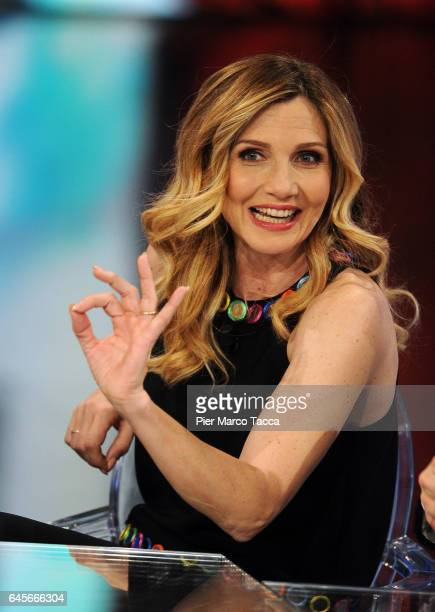 Lorella Cuccarini attends a 'Che Tempo Che Fa' Tv Show on February 26 2017 in Milan Italy