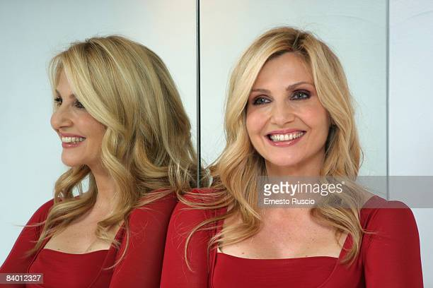 Lorella Cuccarini attends Lissi and the Wild Emperor photocall at the Anica on December 12 2008 in Rome Italy