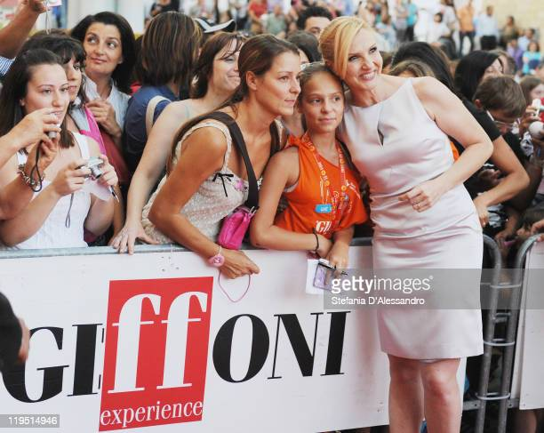 Lorella Cuccarini attends the 2011 Giffoni Experience on photocall on July 21 2011 in Giffoni Valle Piana Italy