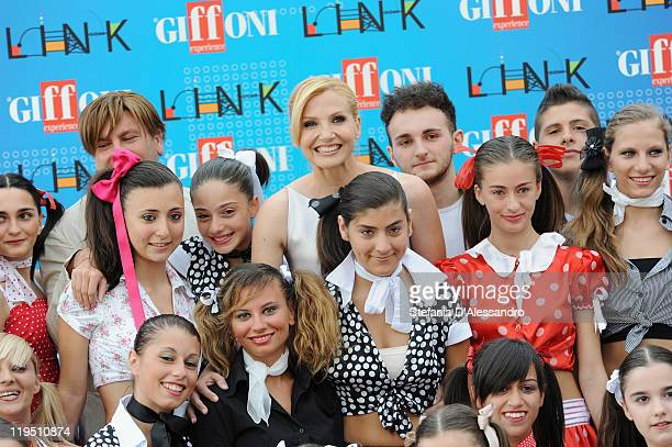 Lorella Cuccarini attends the 2011 Giffoni Experienceon photocall on July 21 2011 in Giffoni Valle Piana Italy