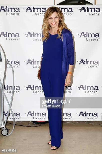 Lorella Cuccarini attends the Alma Lasers Event at Centrale Del Tennis during the Tennis Internazionali BNL d'Italia 2017 on May 15 2017 in Rome Italy