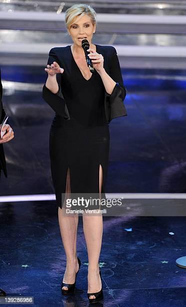Lorella Cuccarini attends the closing night of the 62th Sanremo Song Festival at the Ariston Theatre on February 18, 2012 in Sanremo, Italy.