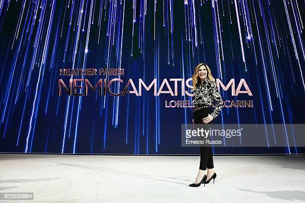 Lorella Cuccarini attends the 'Nemicamatissima' tv show presentation on November 24 2016 in Rome Italy