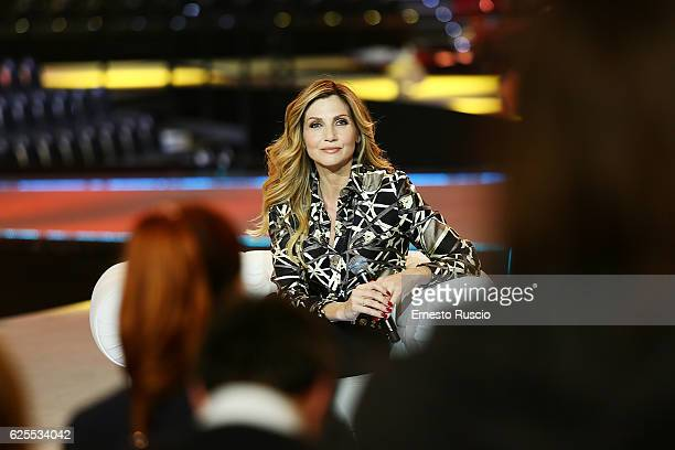 Lorella Cuccarini attends the 'Nemicamatissima' tv show presentation on November 24, 2016 in Rome, Italy.