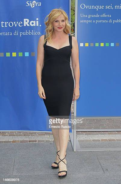 Lorella Cuccarini attends the Palinsesti Rai photocall at Cavalieri Hilton Hotel on June 20 2012 in Rome Italy