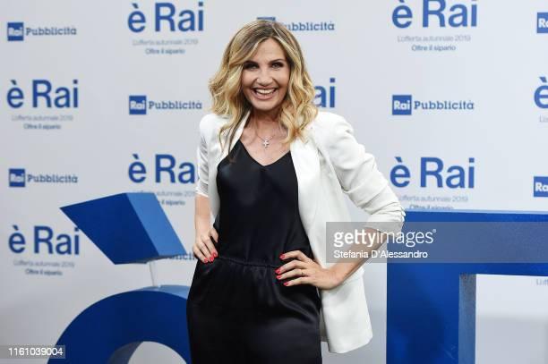 Lorella Cuccarini attends the Rai Show Schedule presentation on July 09 2019 in Milan Italy