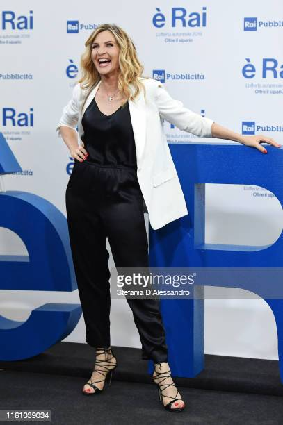 Lorella Cuccarini attends the Rai Show Schedule presentation on July 09, 2019 in Milan, Italy.