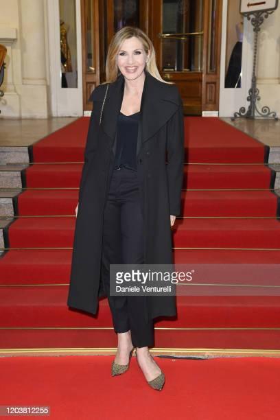 """Lorella Cuccarini attends the red carpet of the project """"Tra Palco E Città"""" at the 70° Festival di Sanremo at Casinò on February 03, 2020 in Sanremo,..."""