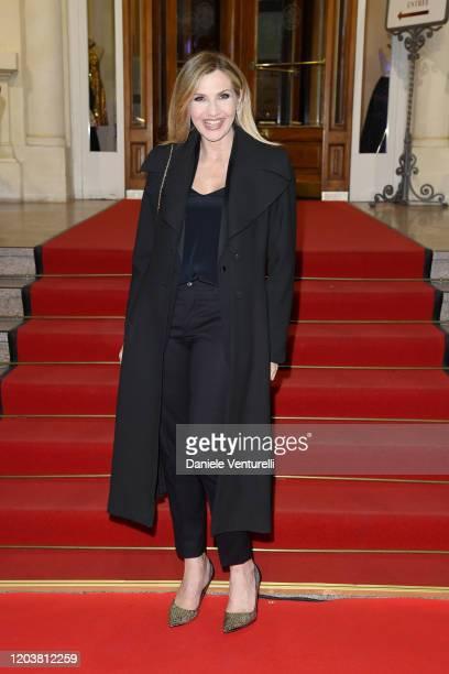 Lorella Cuccarini attends the red carpet of the project Tra Palco E Città at the 70° Festival di Sanremo at Casinò on February 03 2020 in Sanremo...