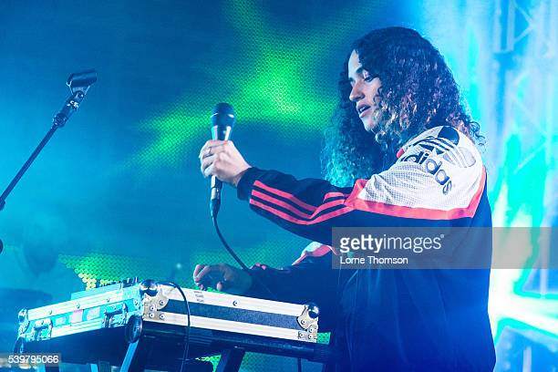 Lorely Rodriguez performs as Empress Of on the Verity stage at Field Day on June 12, 2016 in London, England.