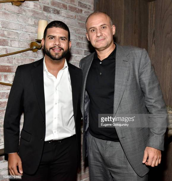 Loren Duran and Ronn Torossian attend the DuJour Fall issue cover party with Mandy Moore at TAO Downtown on September 24 2018 in New York City