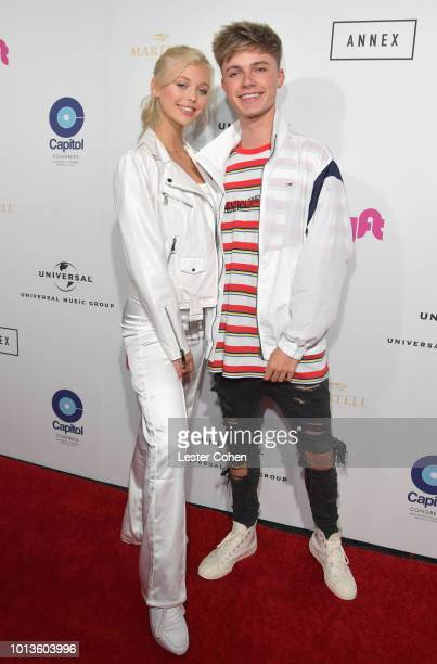 Loren Gray and HRVY attend Capitol Music Group's 5th annual Capitol Congress Premieres new music and projects for industry and media at Arclight...