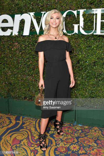 Loren Gray attends Teen Vogue's 2019 Young Hollywood Party Presented By Snap at Los Angeles Theatre on February 15 2019 in Los Angeles California
