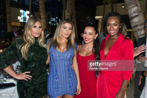 Loren Ridinger Larsa Pippen Adrienne Bosh Tamia Everett attend the Haute Living Miami's Annual Haute 100 Dinner Presented By Hublot And Prestige...