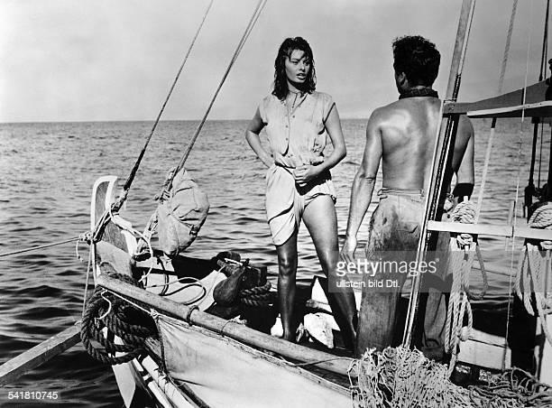 Loren Sophia * Schauspielerin Italien in der Rolle der 'Phaedra' in dem Film 'Der Knabe auf dem Delphin' Regie Jean Negulesco USA 1957