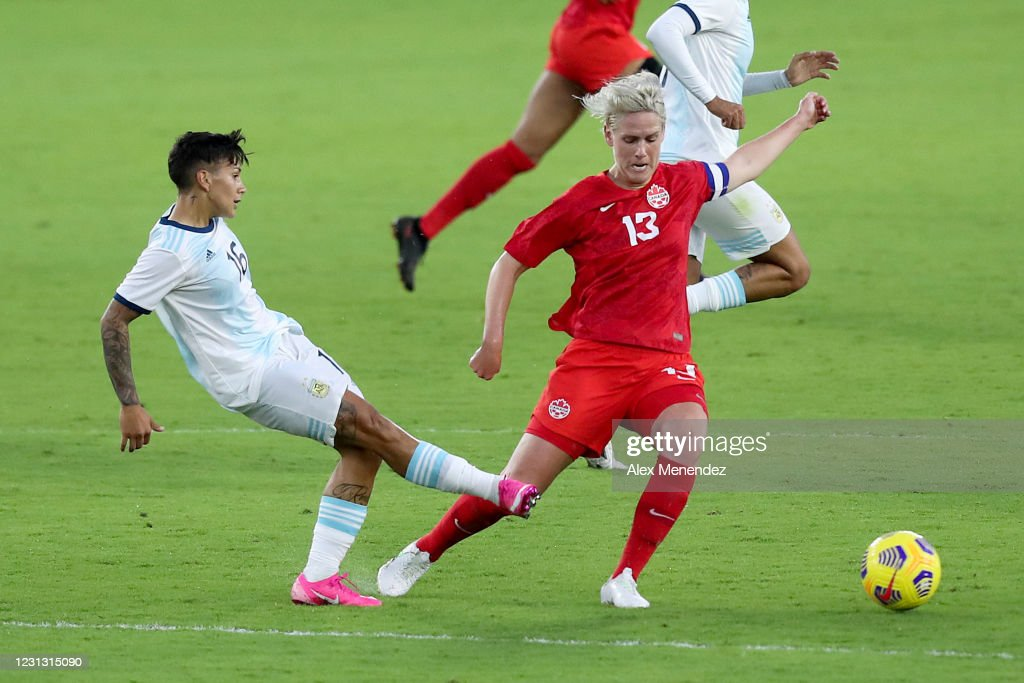 2021 SheBelieves Cup - Argentina v Canada : News Photo