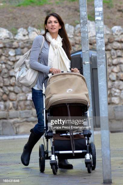 Lorena Bernal and her son are seen on March 22 2013 in Madrid Spain