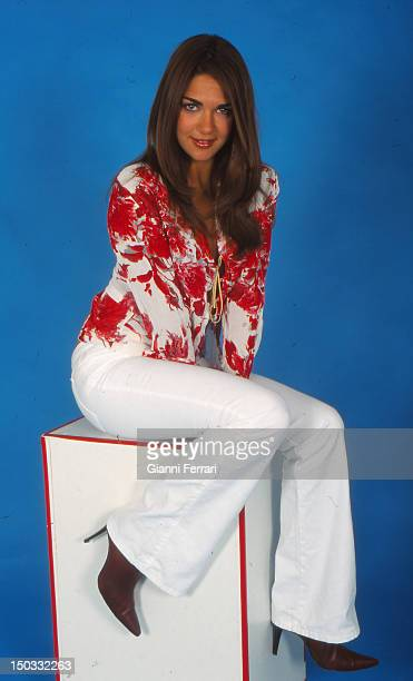 Lorena Bernal Miss Spain 1999 during a photo shoot in a studio 18th May 2002 Madrid Spain